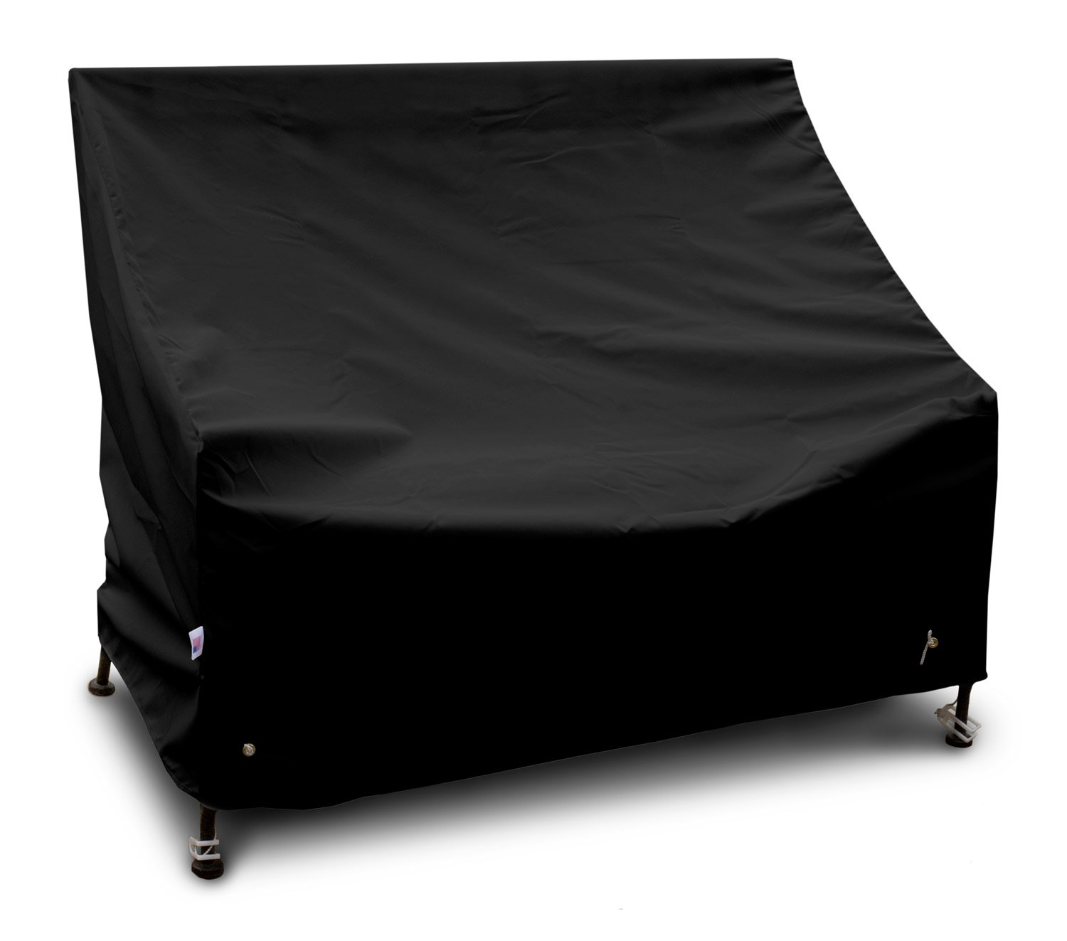 KoverRoos Weathermax 74204 5-Feet Bench/Glider Cover, 75-Inch Width by 28-Inch Diameter by 37-Inch Height, Black