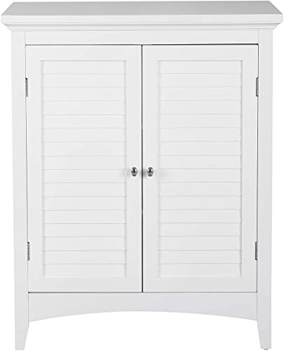 Elegant Home Fashions Slone 2-Door Floor Cabinet in White