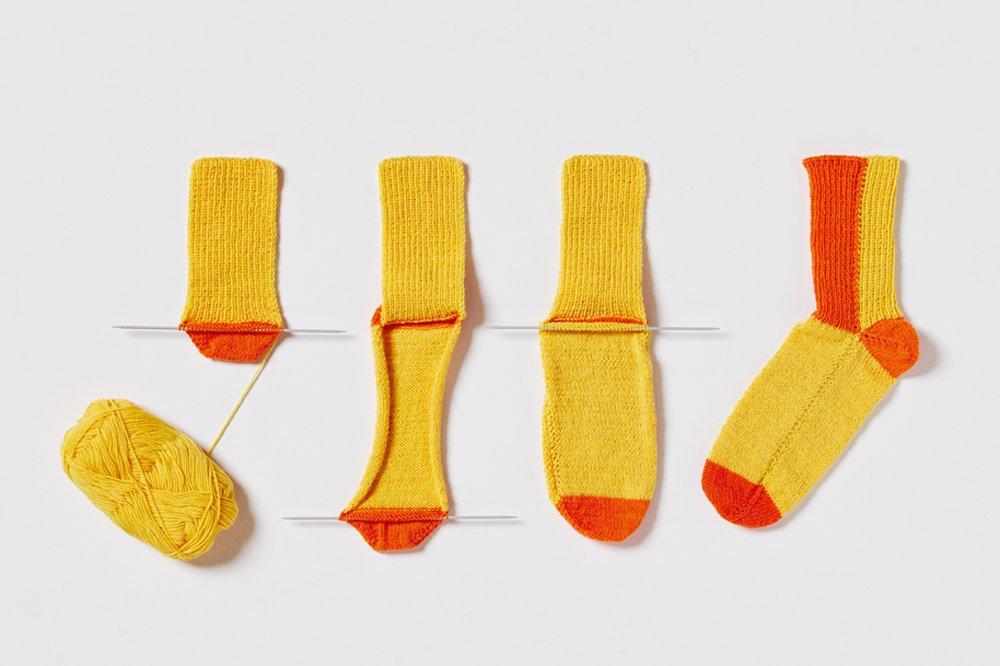Reihensocken Mit Nur 2 Nadeln Zur Socke Amazonde Martina Kaden