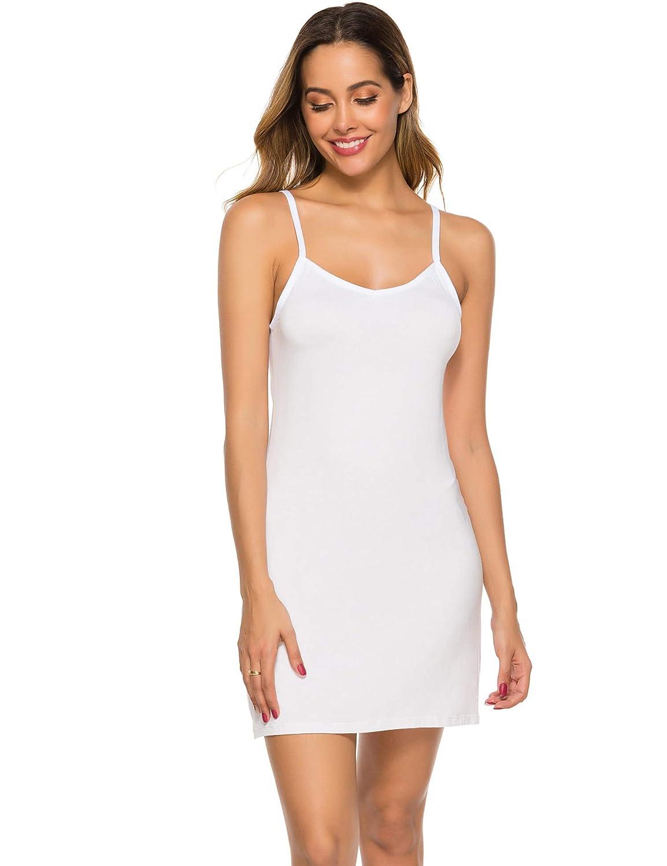 Popbee Womens Basic Slip Dress Adjustable Spaghetti Strap Cami Mini Dress