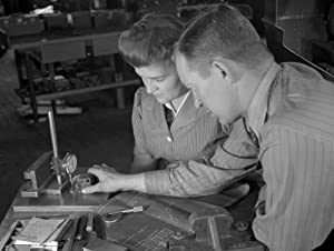 Boston Factory 1942 Nsupervisor George Cole And Edith Krause Working In The Gillette Factory In Boston Massachusetts Photograph By Howard R Hollem 1942 Poster Print by (24 x 36)