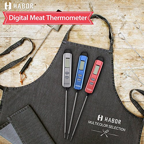 Large Product Image of Habor Meat Thermometer, Instant Read Thermometer Digital Cooking Thermometer, Candy Thermometer with Super Long Probe for Kitchen BBQ Grill Smoker Meat Oil Milk Yogurt Temperature