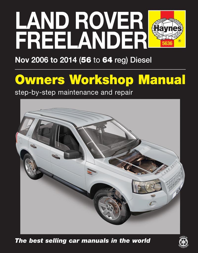 Haynes Workshop Manual For Land Rover Freelander Diesel (Nov 06 - 14 56 to  64: Amazon.co.uk: Books