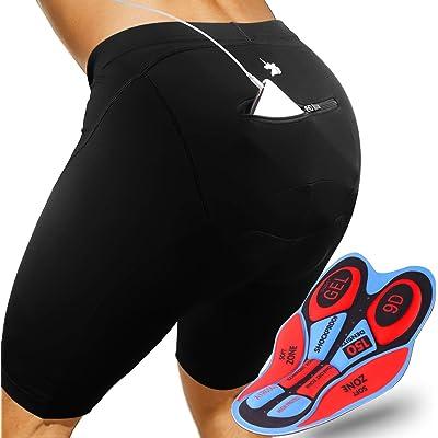 GRAT.UNIC Pantalones Cortos de Bicicleta,Shorts de Ciclismo,9D Padded Shorts,Gel de Silicona,Biker Shorts, Medio Pantalones para Bicicleta de Carretera