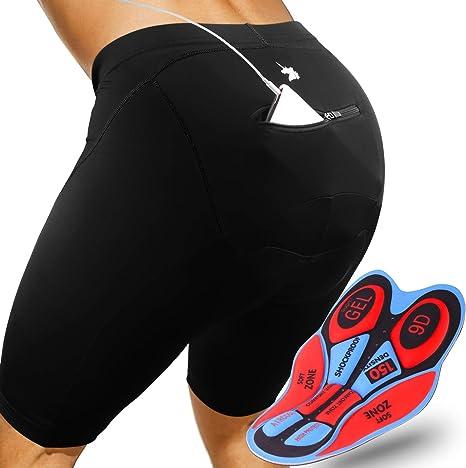 2XL BeIM Damen Fahrradhose Kurz Radlerhose und Radhose mit atmungsaktive 4D Gel Sitzpolster f/ür Frauen S