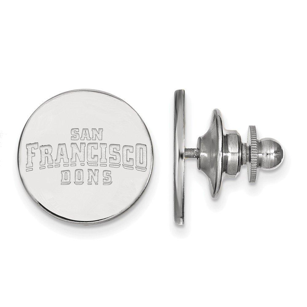 Sterling Silver Sterling Silver Rh-plated LogoArt University of San Francisco Lapel Pin