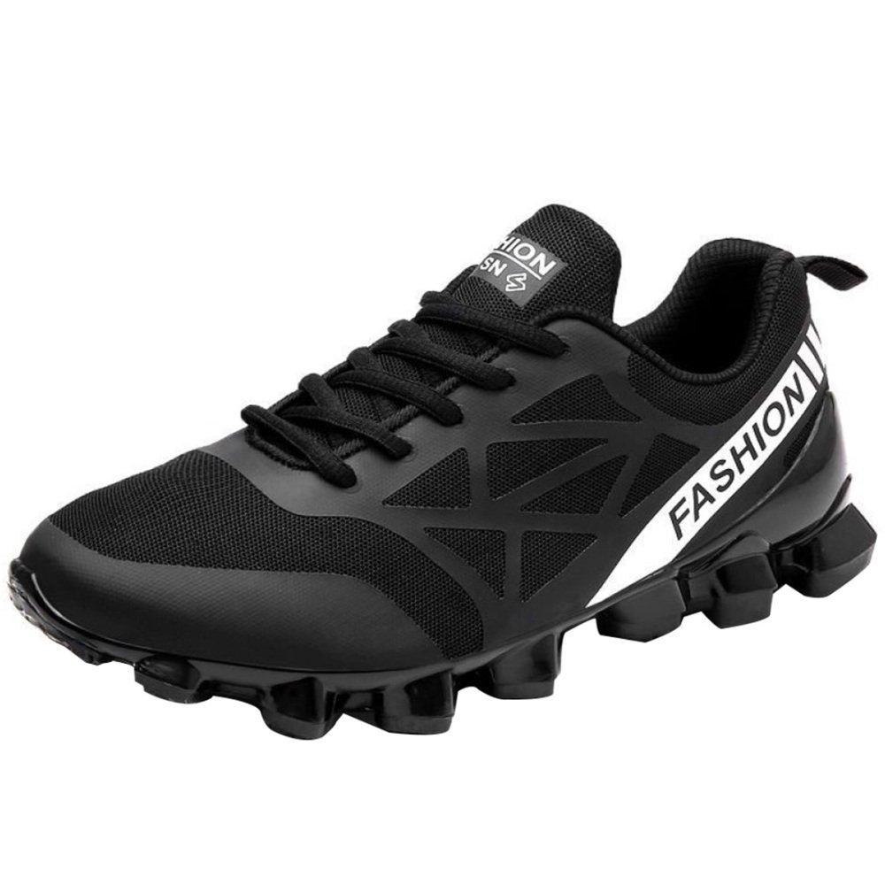 YXLONG Zapatos Deportivos Transpirables para Verano para Hombres Nuevos,7717black-43 43|7717black
