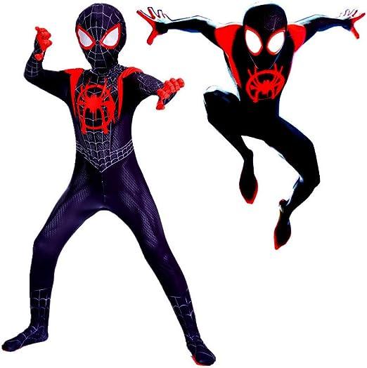 CVFDGETS Niños Adultos Spiderman Cosplay Disfraz En El Verso De ...