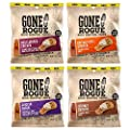 Gone Rogue High Protein Chips | Low Carb, Gluten Free Snacks| Variety Pack, 4 pack | 4 Flavors: Chicken Bacon, Buffalo Style Chicken, Teriyaki Chicken & BBQ Chicken