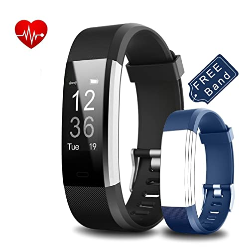 Yoolaite Fitness Tracker Heart Rate activity Tracker watch Sleep Tracker Calorie Counter Wrist Pedometer Smart Watch with Free Replacement Band for Android & IOS