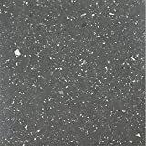 Achim Home Furnishings STBSG70620 Sterling Self Adhesive Vinyl Floor Tile, 12'' x 12'', Black Speckled Granite