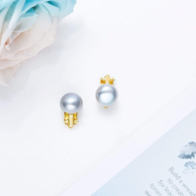 Silver Material Earrings Girls Women Bead Stud Earrings Anniversary