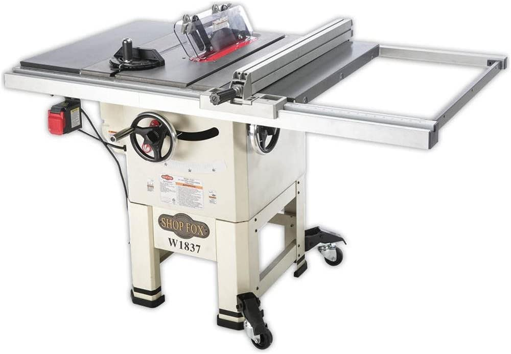 Shop Fox W1837 10 2 hp Open-Stand Hybrid Table Saw