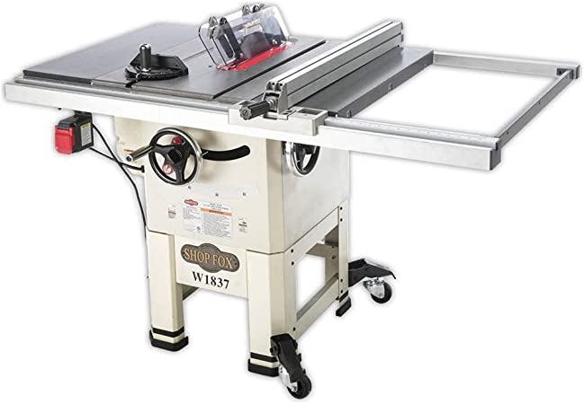 "Shop Fox W1837 10"" 2 hp Open-Stand Hybrid Table Saw(best table saw)"