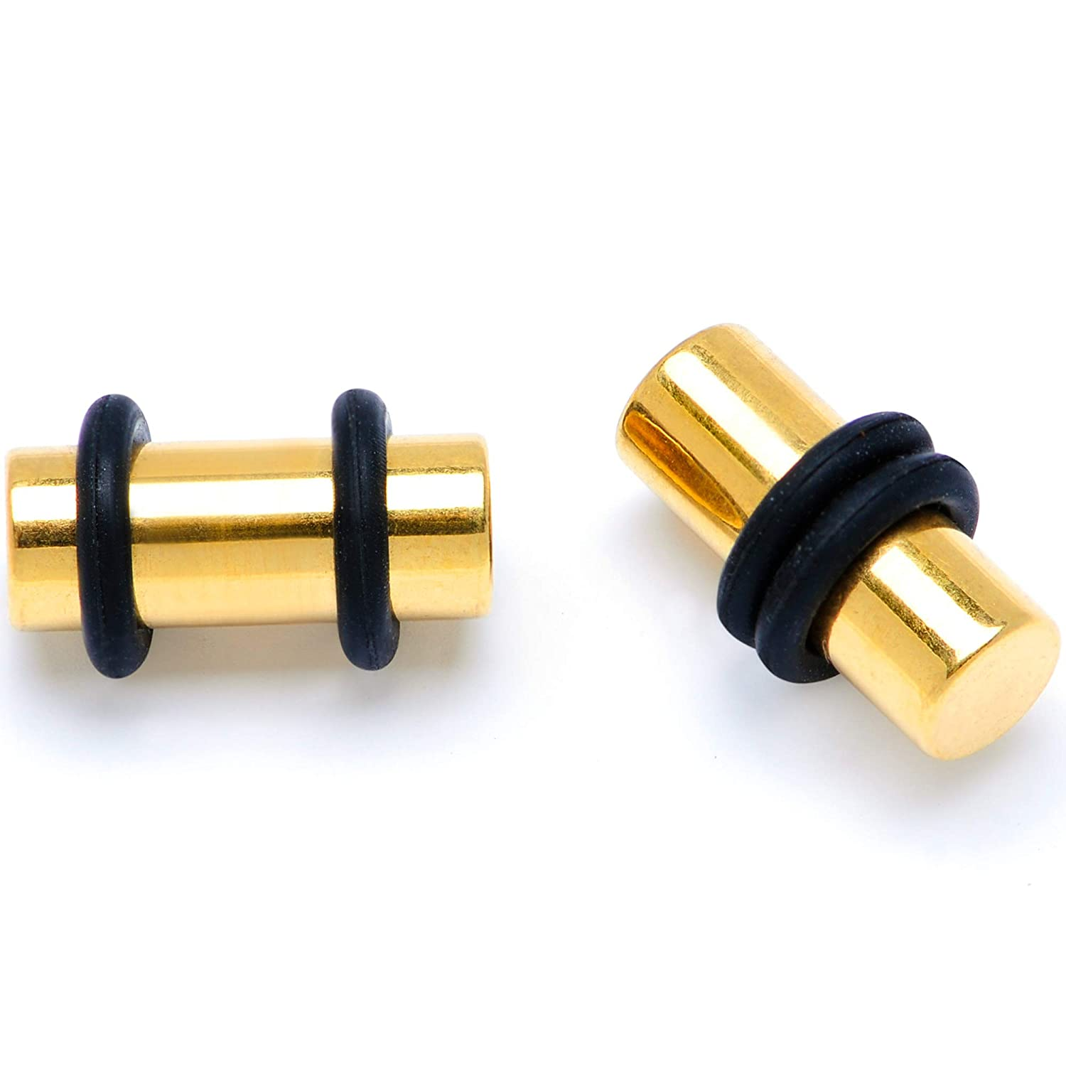 Body Candy Unisex 4Pc PVD Steel Ear Gauges Stretching Kit Tapers Straight Plug Set