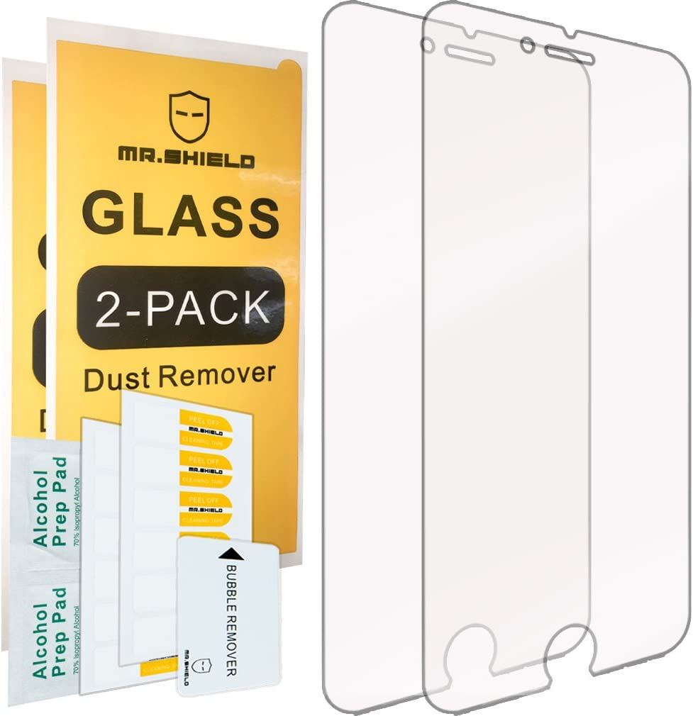 [2-PACK]-Mr.Shield Designed For iPhone 6/6S [Tempered Glass] Screen Protector with Lifetime Replacement