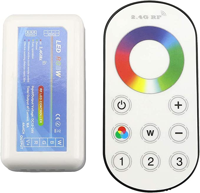 4 Channels LED Tape Flood Light WIFI RF RGBWW Colour Change Dimming Controller