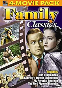 Family Classics 4-Movie Pack - Jungle Book, Gulliver's Travels (Animated) , My Favorite Brunette, Pied Piper of Hamelin [Import]