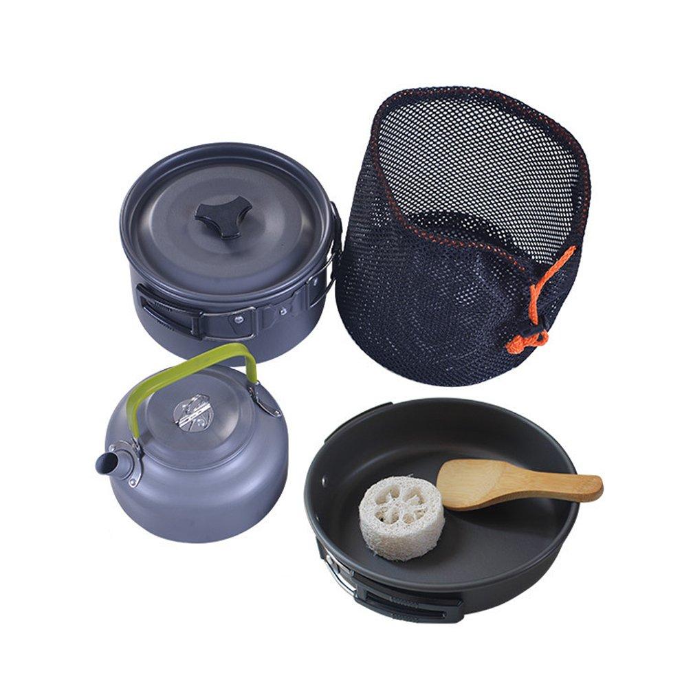 WAOBE Cooking Set Outdoor Camping - 2-3 Pot Teekanne Kombination ...
