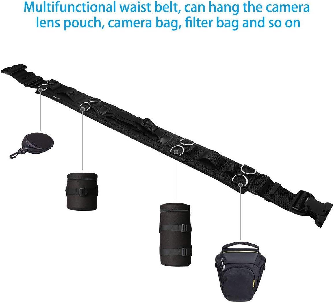 4X Zipper Lens Pouch Bag Professional Waterproof Camera Rain Cover Bundle Outdoor Photography Adjustable Waist Strap