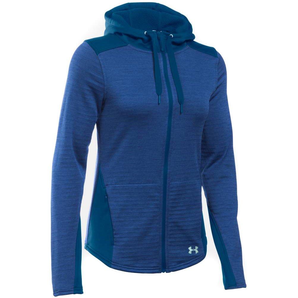 Under Armour Women's UA Gamut Full Zip Hoodie Heron/Aqua Falls Sweatshirt MD (US 8-10)