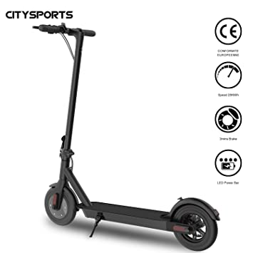 CITYSPORTS Patinete, Patinete Scooter Eléctrico Plegable Adulto - Ultra Ligero