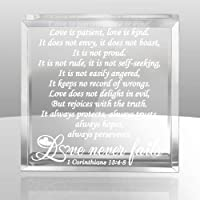KATE POSH - 1 Corinthians 13 Love Never Fails Keepsake and Paperweight
