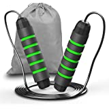 TINMARDA Jump Rope Tangle-Free Speed Skipping Rope Cable And Memory Foam Idea for Home Exercise Fitness Cross Training…