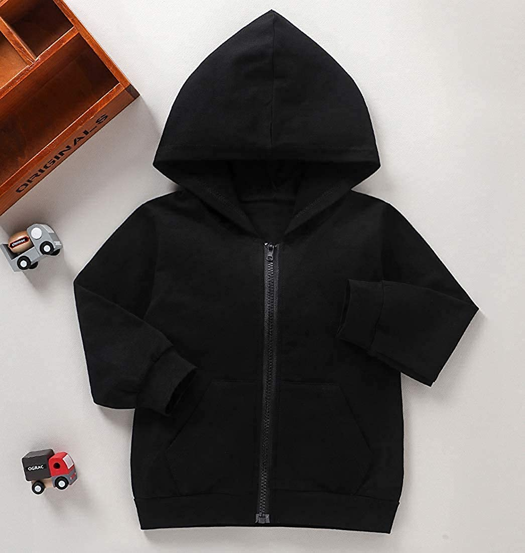 Toddler Boys Girls Hoodies Sweatshirt Casual Long Sleeve Pullover Sweater Tops Fall Winter Outdoor Outfit Clothes