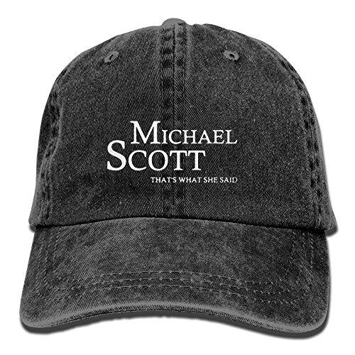 Adjustable Cowboy Cotton Ball Hat Michael Scott Unisex Washed Baseball Cap Comfortable and (Scott Mesh Beanie)
