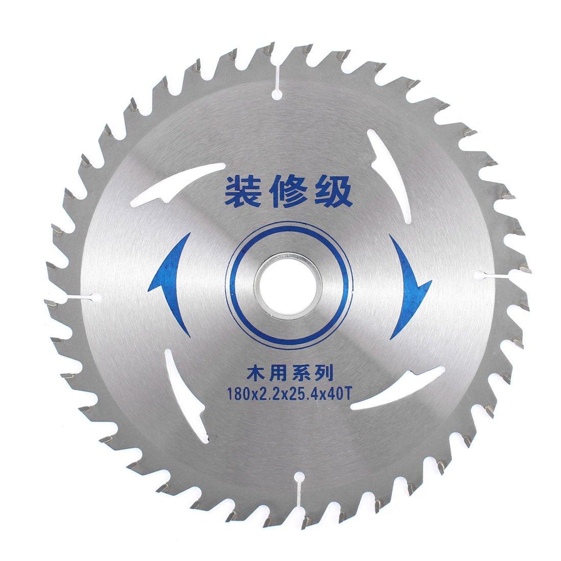 sourcingmap® 180mmx 25.4mmx2.2mm 40T Circulaire présentation découpe Coupeur Scie Moulin