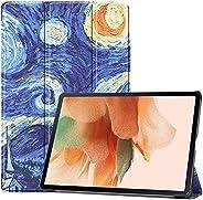Billionn Capa para o Novo Samsung Galaxy Tab S7 FE 12,4 Polegadas 2021 (SM-T730/T736B), com Função Automática