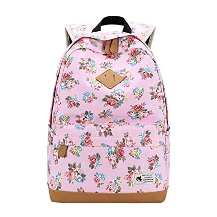 86677c4a3dc4 Amazon.com: Canvas Backpack School Bags Floral Printing College ...