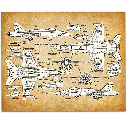 F-18 Hornet - 11x14 Unframed Patent Print - Great Room for sale  Delivered anywhere in USA