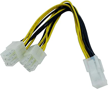 PCIE 6 Pin to 2 x 6 Pin PCI Express Dual Power Splitter 20cm Cable