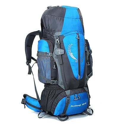 b50bd915a4ca Amazon.com   80L Large Trekking Rucksack Mens Waterproof Outdoor Hiking  Camping Internal Frame Backpack