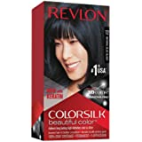 Revlon Colorsilk Beautiful Color, Permanent Hair Dye with Keratin, 100% Gray Coverage, Ammonia Free, 12 Natural Blue…