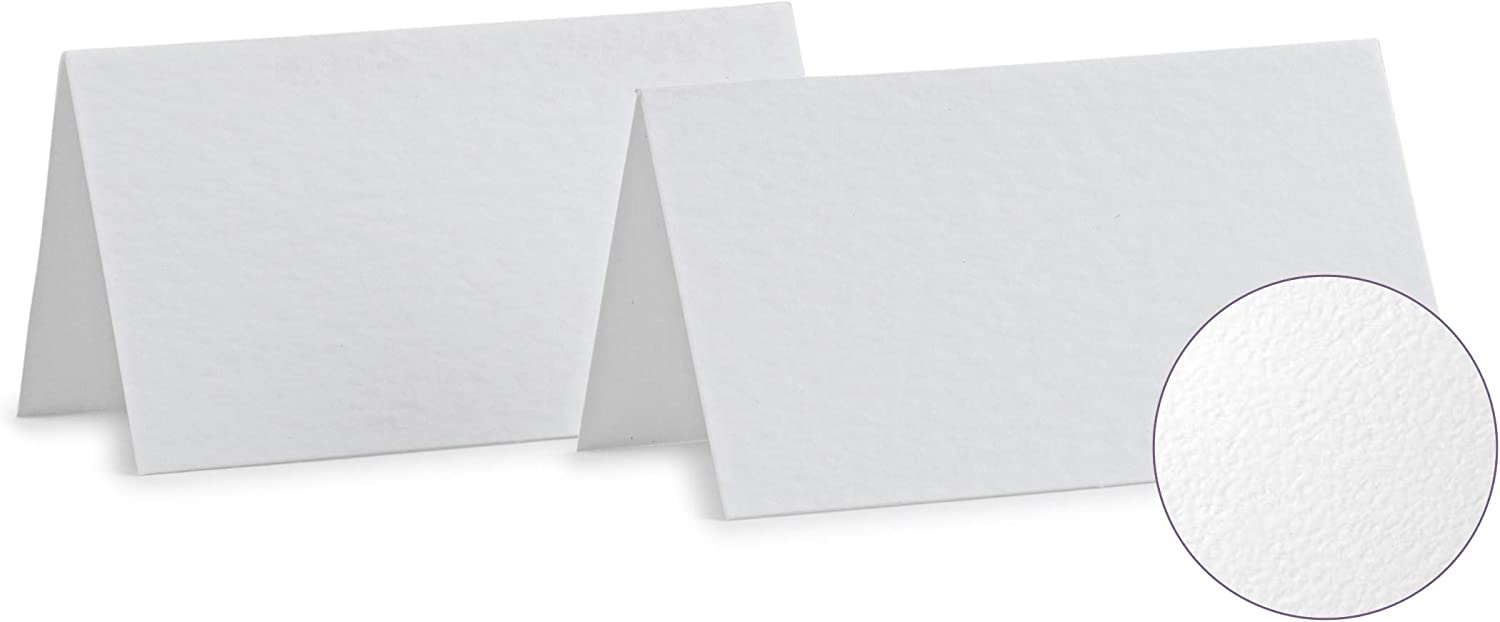 Place Cards White Blank Textured Tent cards 2