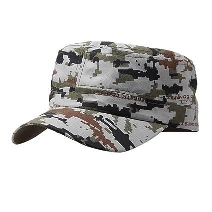 a631a1fa77f705 Amazon.com: Men Women Washed Cotton Military Caps Cadet Army Caps ...