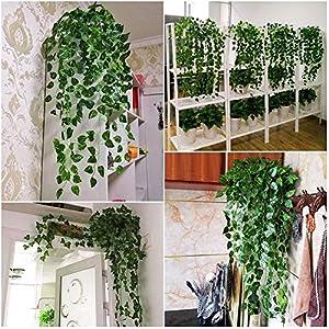Forart Artificial Wisteria Long Hanging Bush Flowers Bougainvillea Hanging Basket Decorative Silk Plant for Home Wedding Decoration Arrangement 7