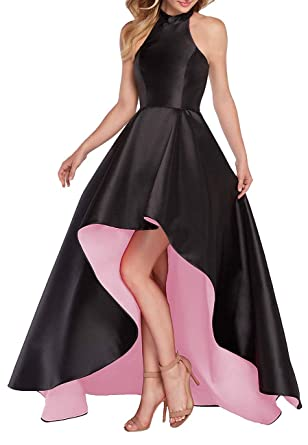 bdb271d3f1e98 GMAR Satin Homecoming Dresses 2018 High Low Double Colors Prom Dress Long  for Women