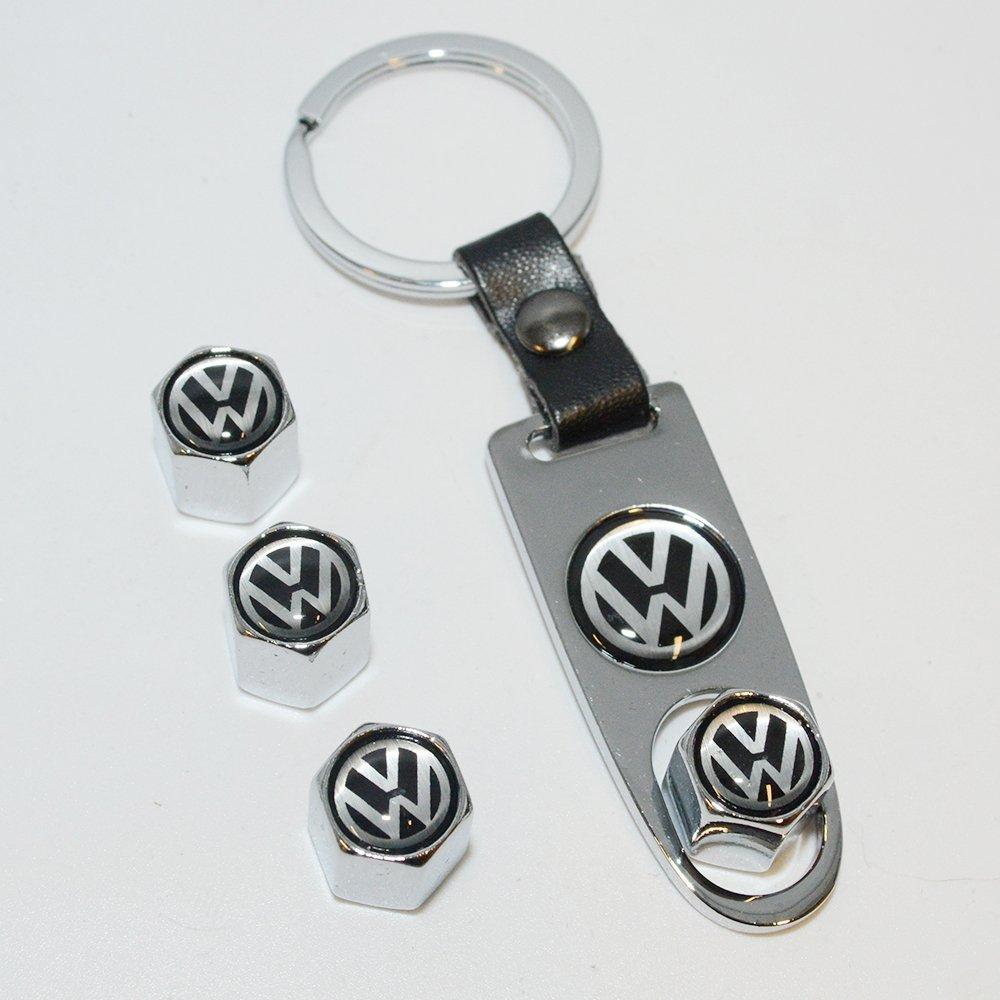 Chrome US85 Volkswagen Logo Emblem Auto Car Wheel Tire Air Valve Caps Stem Dust Cover /& Keychain Accessories Decoration Birthday Gift