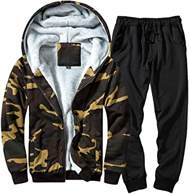 WSPLYSPJY Men Casual Long Sleeve Running Jogging Athletic Sports Set Tracksuits