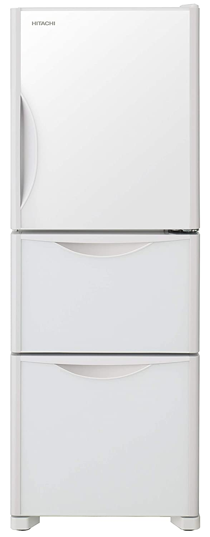 日立 冷蔵庫 265L 3ドア 右開き 真空チルド まんなか野菜 クリスタルホワイト R-S27JV XW   B07DLL4J86
