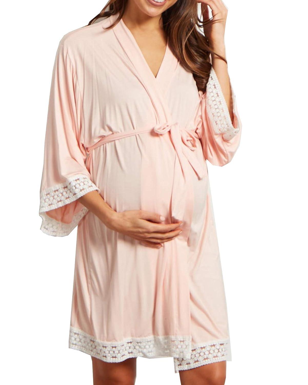 Mutterschafts Damen Umstands Sanft Schwangerschaftskleid Stretchkleid Minikleid