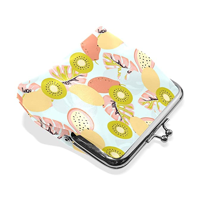 Mango Pattern Tropical Leaves Mold Fashion Womens Classic Exquisite Vintage Coin Purse at Amazon Womens Clothing store:
