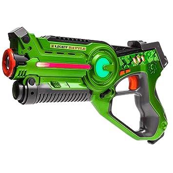 Arma de juguete de Light Battle Active para niños - Color: verde - Juego de acción - LBA101: Amazon.es: Juguetes y juegos