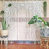 Macrame Wall Decor Hanging - Bohemian Home Geometric Art Decor - Beautiful Apartment Dorm Room Decoration-Macrame Curtain-Macrame Wedding Backdrop for Christmas & Holiday Decorations W 75'' x L 85''