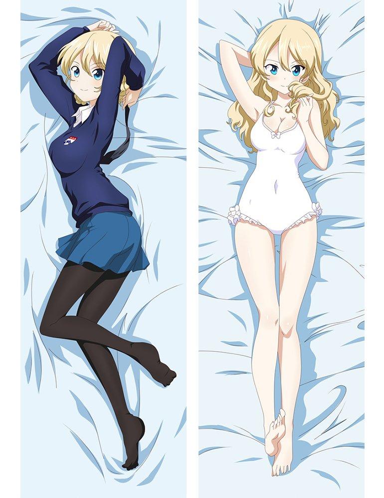 F Zonn Girls und Panzer 150 x 50cm(59in x 19.6in) 2 Way Tricot Pillowcases