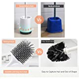 MEKEET Toilet Brush and Holder Set Soft Silicone
